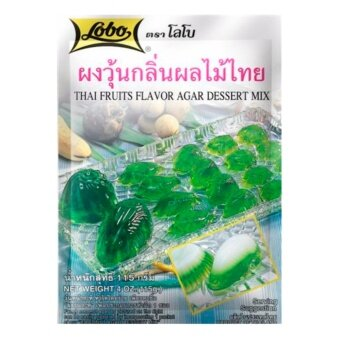 LOBO โลโบ ผงทำวุ้นกลิ่นผลไม้ไทย ขนาด 115 กรัม (2 ซอง)