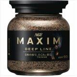 ราคา กาแฟ Maxim Deep Line กาแฟสำเร็จรูป แม็กซิม ฝาดำ แบบขวด 80 กรัม 1 ขวด สินค้านำเข้าจากญี่ปุ่น ถูก
