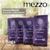 ราคา Mezzo Coffee Bean 4 Bags เมล็ดกาแฟ เมซโซ่ เฮาส์เบลนด์ 250G X 4 Bags 1 000 G ใหม่