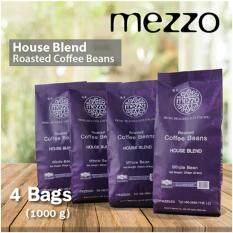 ขาย Mezzo Coffee Bean 4 Bags เมล็ดกาแฟ เมซโซ่ เฮาส์เบลนด์ 250G X 4 Bags 1 000 G เป็นต้นฉบับ