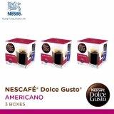 โปรโมชั่น Nescafe Dolce Gusto Americano แคปซูลกาแฟ จำนวน 3 กล่อง กล่องละ 16 แคปซูล Nescafe Dolce Gusto