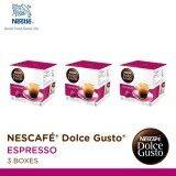 ราคา Nescafe Dolce Gusto Espresso แคปซูลกาแฟ จำนวน 1 แพ็ค รวม 3 กล่อง กล่องละ 16 แคปซูล ราคาถูกที่สุด