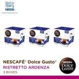 ราคา Nescafe Dolce Gusto Ristretto Ardenza แคปซูลกาแฟ จำนวน 1 แพ็ค รวม 3 กล่อง กล่องละ 16 แคปซูล