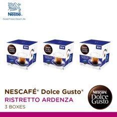 Nescafe Dolce Gusto Ristretto Ardenza แคปซูลกาแฟ จำนวน 1 แพ็ค (รวม 3 กล่อง กล่องละ 16 แคปซูล)