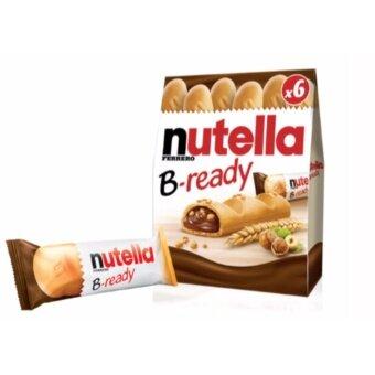Nutella B-Ready เวเฟอร์อบกรอบสอดไส้นูเทลล่า (1 กล่อง มี 6 ชิ้น)