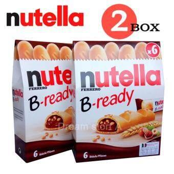 Nutella B-ready นูเทลล่า บีเรดดี้ เวเฟอร์ไส้ช๊อค 6 ชิ้น (2 กล่อง)