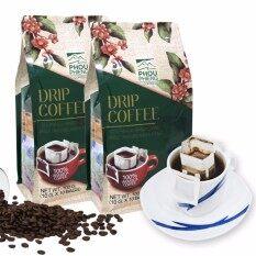ราคา Phouphieng พูเพียง Drip Coffee 100 Premium Arabica กาแฟดริป พรีเมี่ยมอาราบิก้า 2 ถุง 20 ซอง