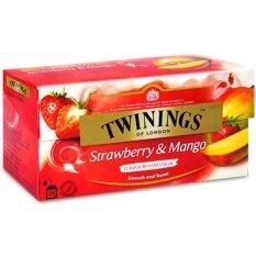 ขาย Twinings Strawberry Mango Tea ทไวนิงส์ ชาอังกฤษ รสสตอเบอร์รี่ แมงโก้ 2กรัม 25ซอง ถูก กรุงเทพมหานคร