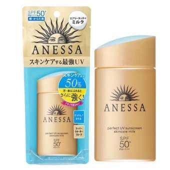 แนะนำ ครีมกันแดด ทาหน้า กันน้ำ เหมาะกับ หน้ามัน Shiseido Anessa Perfect UV Sunscreen A+ SPF50++++ สีทอง