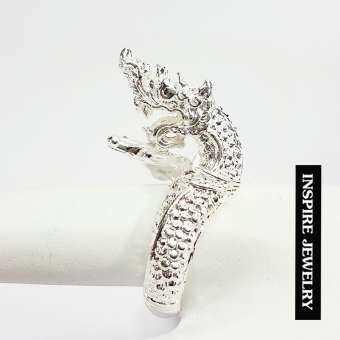 Inspire Jewelry ,แหวนพญานาค ตัวเรือนหุ้มเงินแท้ 100% เคลือบด้วยอีโค้ด สวยเงา ทนนาน พรเก้าประการ นำโชค เสริมดวง