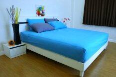 ขาย Cotton Soft ชุดผ้าปูที่นอน รุ่น Bright Blue Base Soft 5 ฟุต 5 ชิ้น ราคาถูกที่สุด