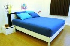 ราคา Cotton Soft ชุดผ้าปูที่นอน รุ่น Sea Blue Base Soft 5 ฟุต 5 ชิ้น เป็นต้นฉบับ