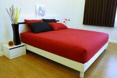 ราคา Cotton Soft ชุดผ้าปูที่นอน รุ่น Red Base Soft 6 ฟุต 5 ชิ้น เป็นต้นฉบับ Cotton Soft