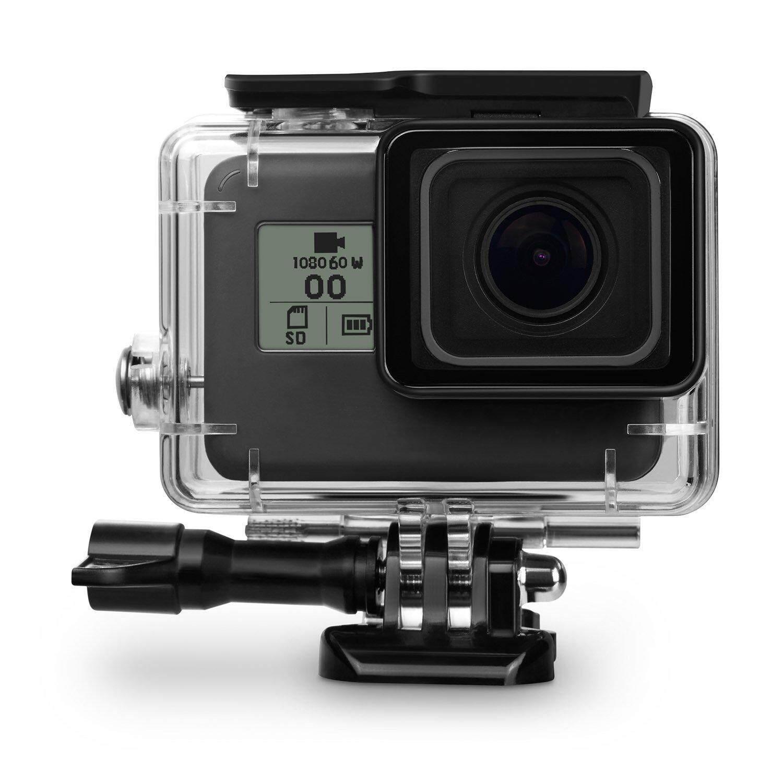 กรอบ กันน้ำ เคส ดำน้ำ สำหรับ GoPro Hero 7 Black 2018 5 6  ไม่ต้องถอดฝาครอบเลนส์ Case Diving 45m waterproof for GoPro Hero 5 6 7 2018