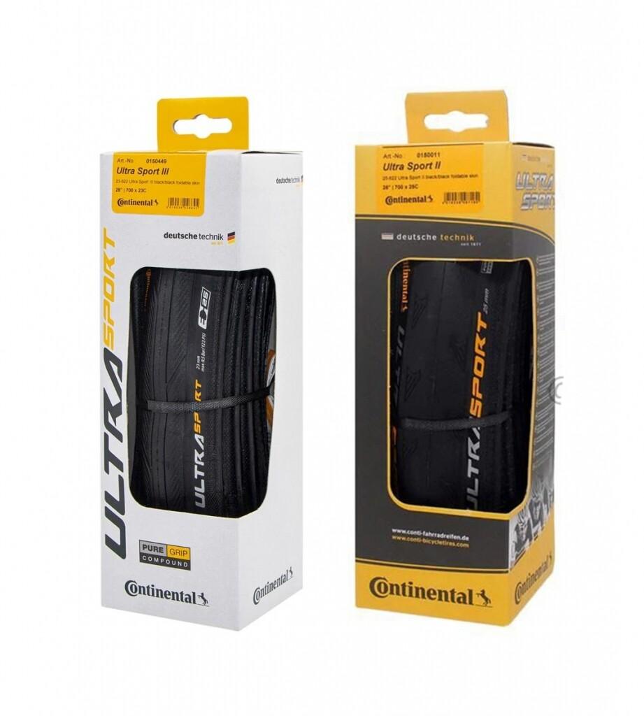 ยางนอกจักรยานเสือหมอบ Continental Ultra Sport 2,ultra Sport 3 (มีกล่อง) ผลิตใหม่ Ultrasport.