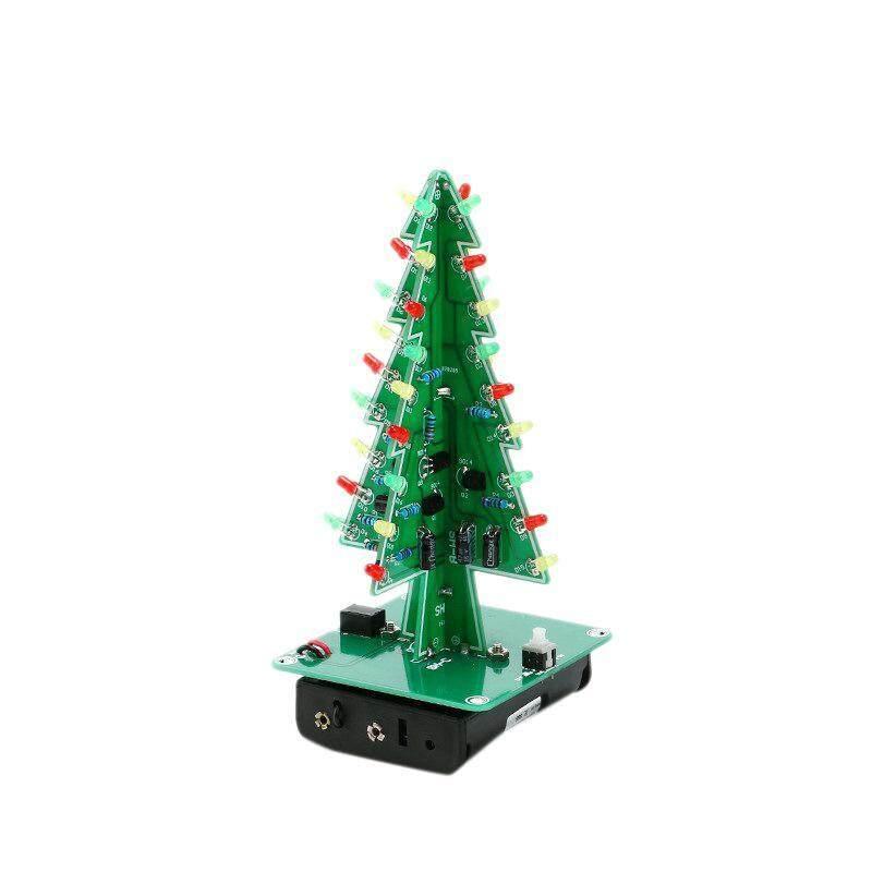 Bảng giá DIY LED Christmas Tree Three Color Flashing Light Red/Green/Yellow DIY Kit for Fun Gift Phong Vũ