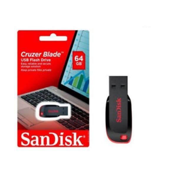 พิเศษสุดๆ!!พร้อมส่ง!!! Sandisk Flash Drive Cruzer Blade Cz50 (black/red) 64 Gb .. By Yahoo.com.