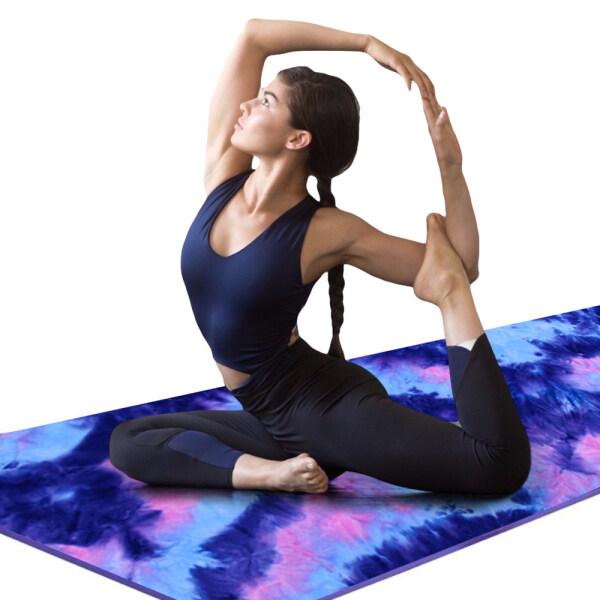Chăn Pilates DUANSHI Hạt Chống Trượt Thảm Tập Yoga Bơi Nhuộm Cột Thắt 24 Inch X 72 Inch Thảm Yoga In Khăn, Khăn Yoga, Chống Trượt