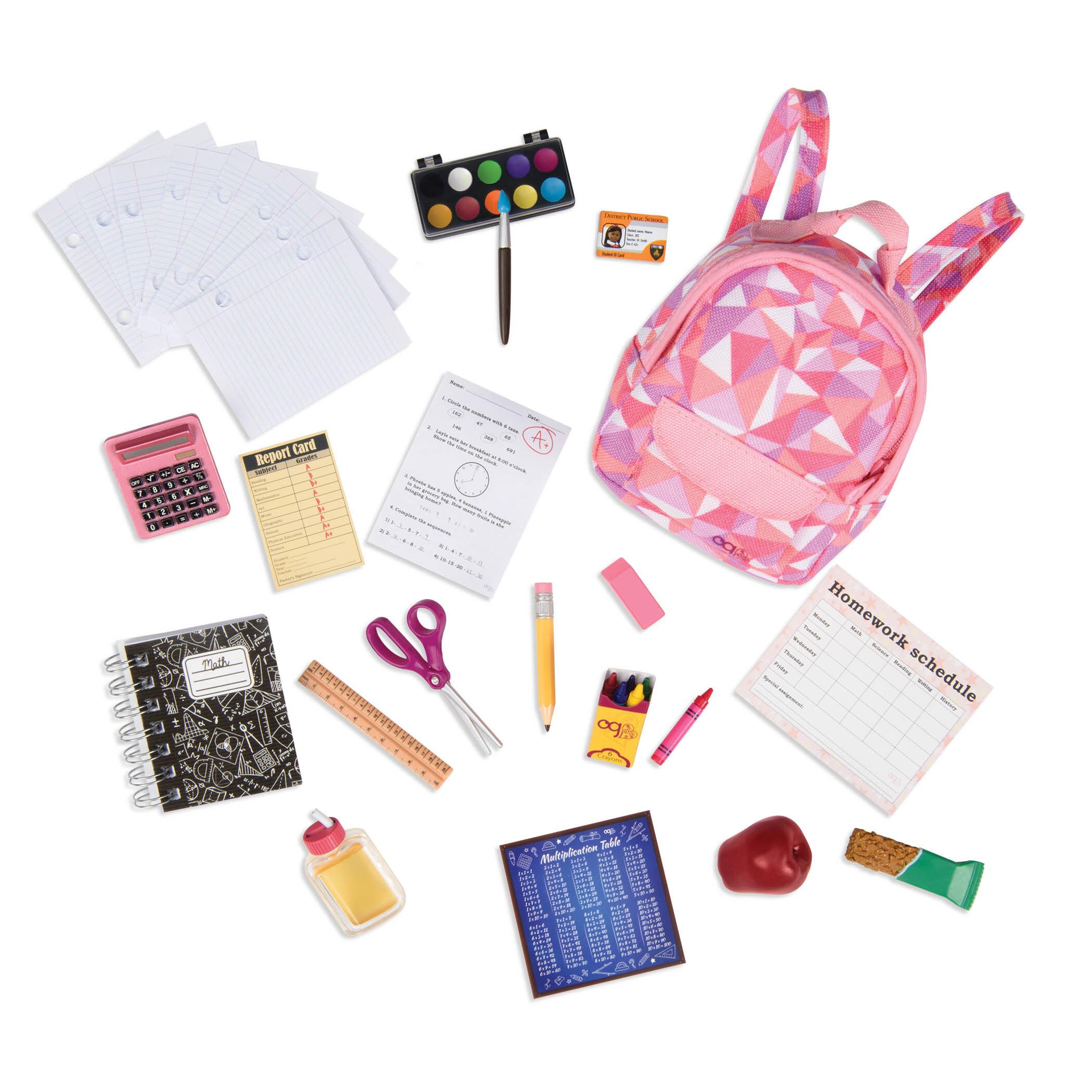 ตุ๊กตาโอจี Our Generation Dolls ( Og Dolls ) - Off To School Accessory Set ชุดอุปกรณ์การเรียนสำหรับตุ๊กตาโอจี.