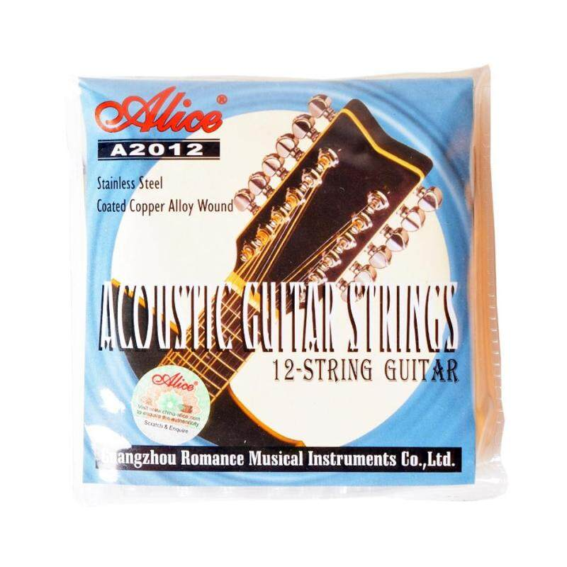 Alice A2012 12 Strings Acoustic Guitar Strings 010-026 Musical Instrument Guitar Parts Accessories 12 Guitar Strings 1 Set Malaysia