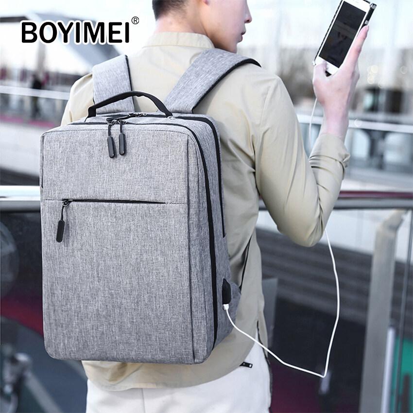 (bo Yi Mei) ฟรีค่าส่ง Backpack กระเป๋า กระเป๋าสะพาย กระเป๋าเป้ กระเป๋าแล็ปท็อป กระเป๋าสะพายหลัง กระเป๋าโน๊ตบุ๊ค เป้สะพายหลัง กระเป๋าแฟชั่น กระเป๋าชาย-หญิง กระเป๋าใส่หนังสือ กระเป๋าใส่ของ กระเป๋าใส่เอกสาร เป้ใส่ของ พร้อมช่องต่อพอร์ต Usb.