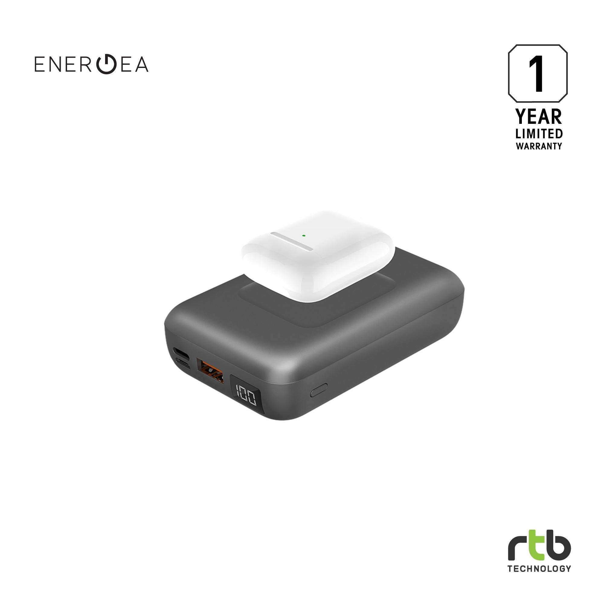Energea Power Bank รุ่น Compac Wireless Pd 18w 10000mah - Gunmetal.