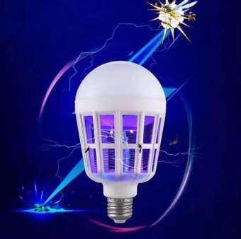 หลอดไฟ ไล่ กัน ป้องกัน ยุง แมลงต่างๆ 2in1 ใช้ได้เหมือนหลอดไฟปกติ White E27 B9W-220V
