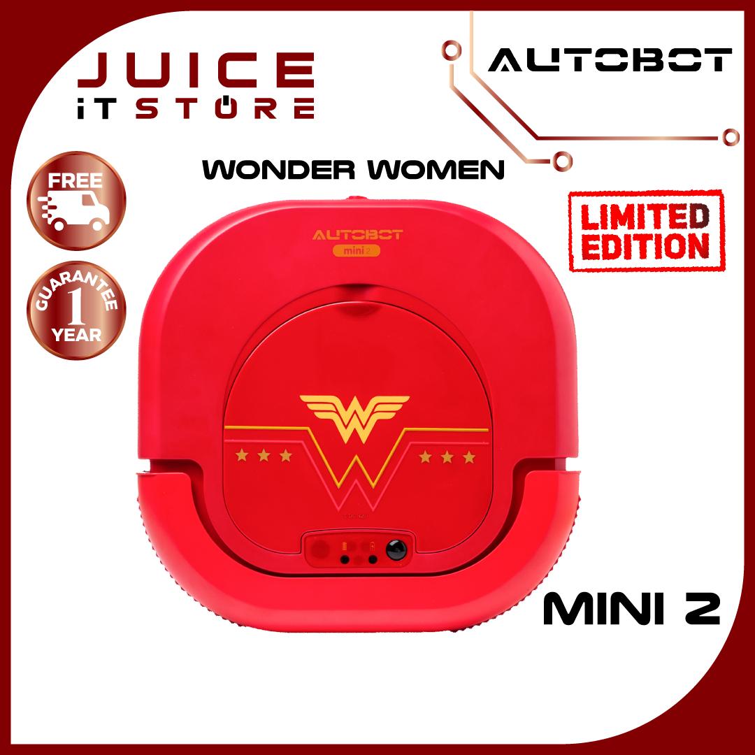 AUTOBOT Mini 2 Wonder Women (Limited Edition) หุ่นยนต์ดูดฝุ่น ผม ขนสัตว์ ถูพื้น ได้ดี พร้อมกลับแท่นชาร์จอัตโนมัติ