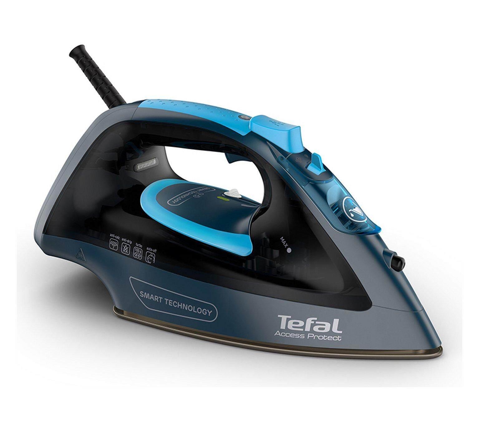 TEFAL รีดผ้าไม่ไหม้ ไม่ต้องปรับอุณหภูมิ เตารีดไอน้ำ รุ่น FV1611 สีดำ  THAIMART