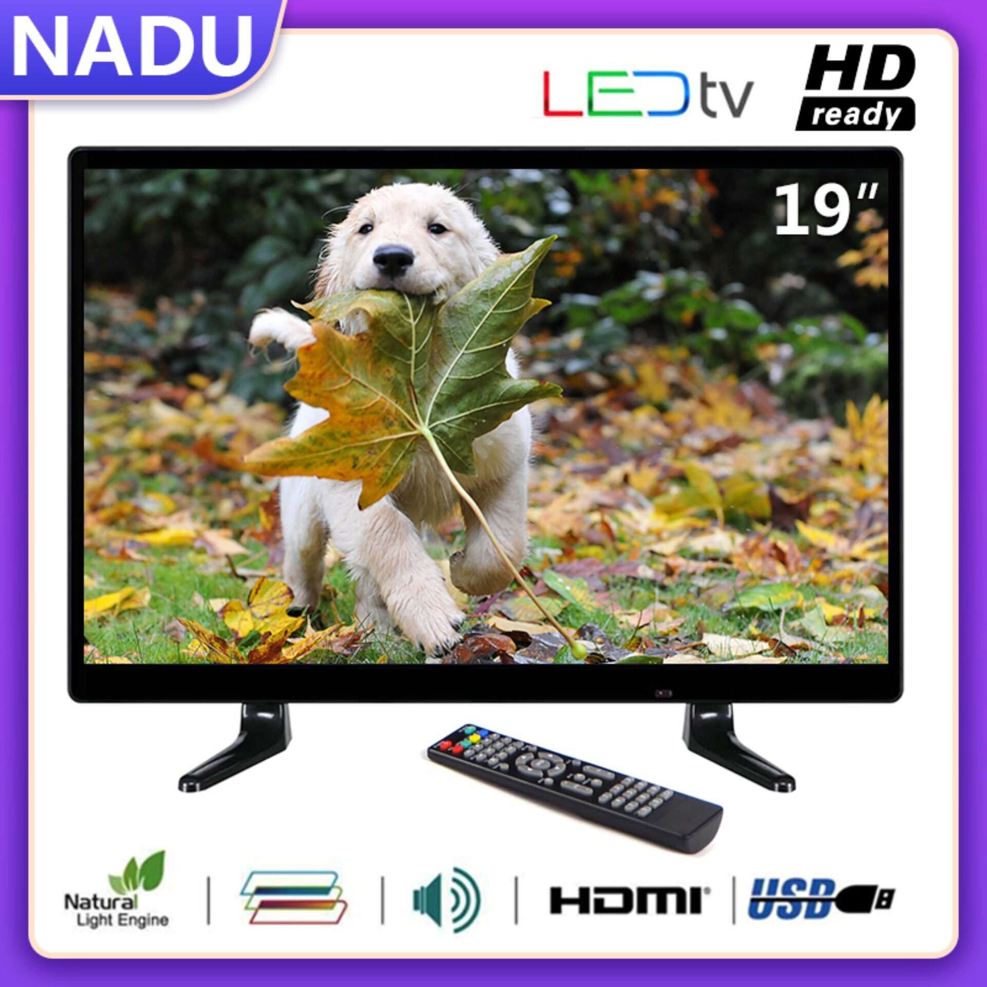 (big Sales) Nadu ทีวีราคาถูก 19 Inches Led  Hd Ready Tv 1440*900  (tclg19a).