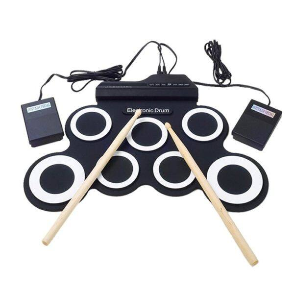 Electronic Drum Set /7 Electronic Drum /7 Tone /8 Demo Song/ 7 Drum Pads Metronome Function /External Instrument Input Available Pedal with Stick Practice / Beginner