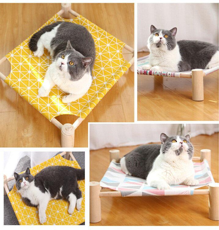 เตียงนอนไม้สำหรับสัตว์เลี้ยง ที่นอนแมว บ้านแมว เตียงไม้แมว อุปกรณ์สัตว์เลี้ยง เปลนอนสำหรับสัตว์เลี้ยง เปลนอนสัตว์เลี้ยง.