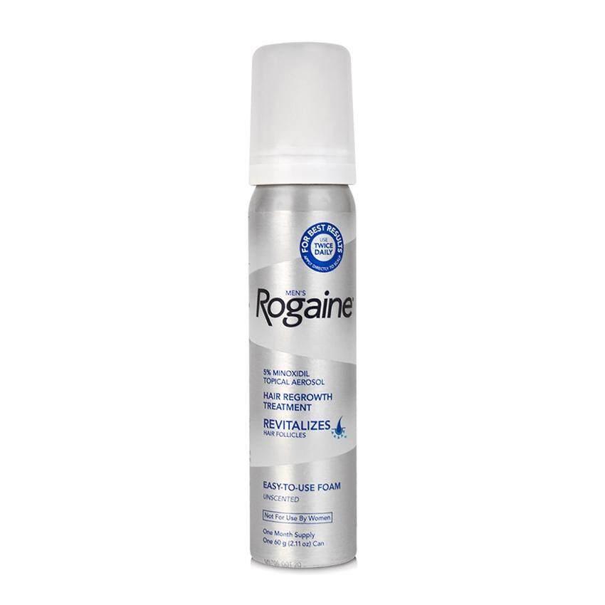 Rogaine น้ำยาปลูกผมสำหรับผู้ชาย Rogaine Foam 5% ไมนอกซิดิล  (ชุดแบ่งขาย 1 เดือน ไม่มีกล่อง) Usa แท้.