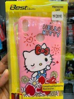 เคส Huawei Y9 2019 ประกบหน้าหลังลาย คิตตี้(Kitty)พร้อมฟิล์มกระจกกันแตกเต็มจอ ลายเดียวกับเคส-