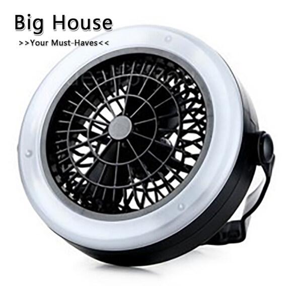 Big House Đa Năng Ngoài Trời Di Động Tiết Kiệm Năng Lượng Đèn Lều Cắm Trại Quạt Có Đèn LED