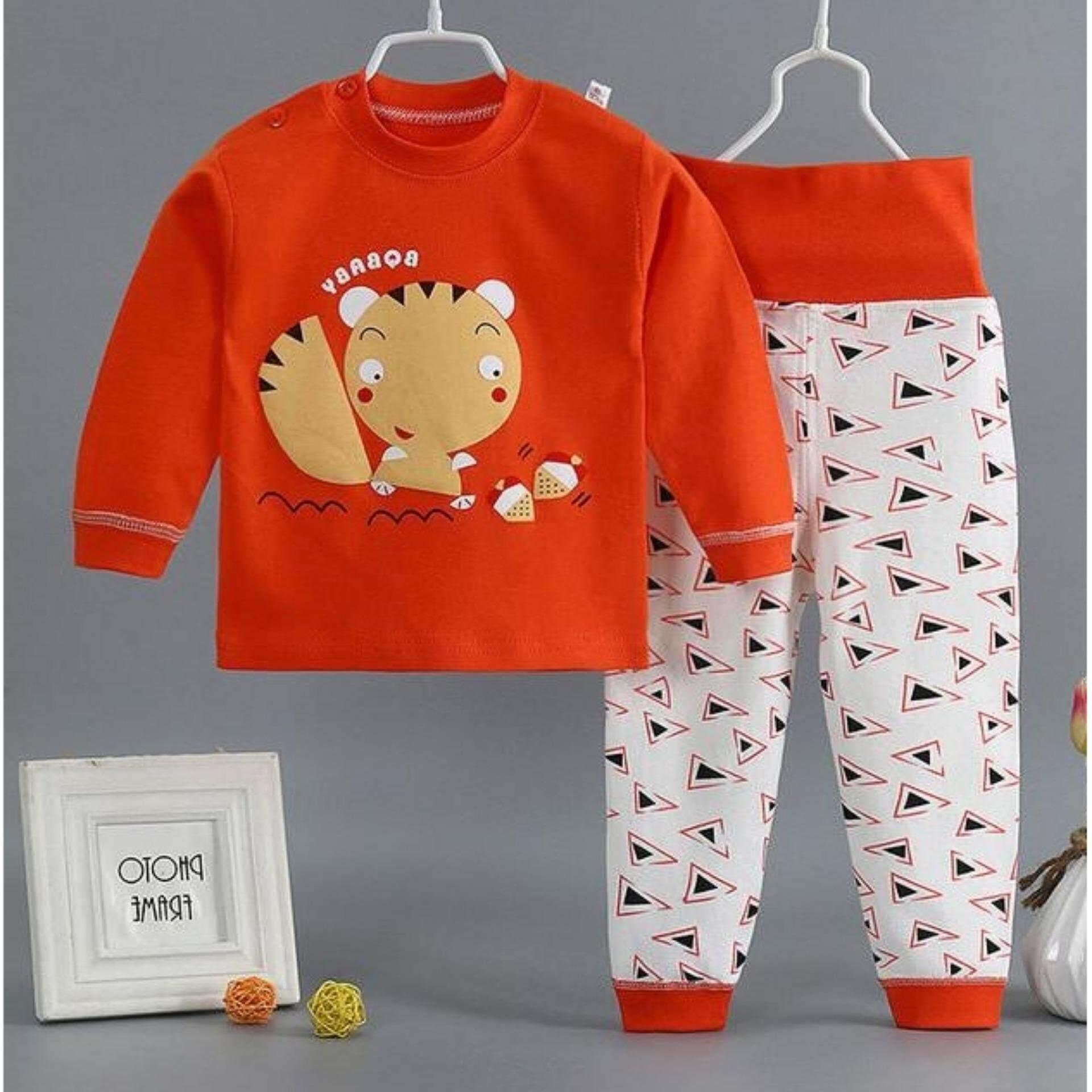 เสื้อแขนยาว+กางเกงแขนยาว ลายการ์ตูนสุดน่ารัก Kids Clothes ผ้านุ่มใส่สบาย ไซส์ 70-140 ซม./6 เดือน-10 ปี By Pae Kids Shop.