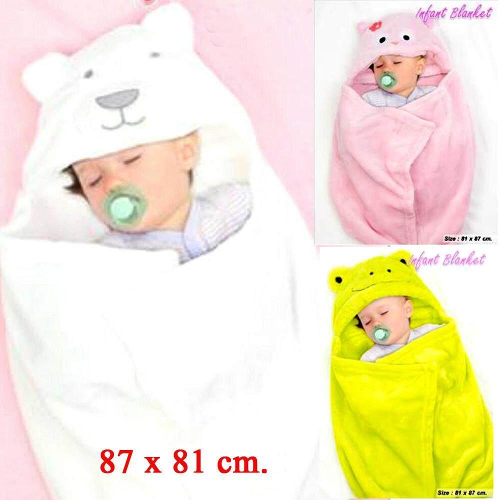 ผ้าห่อตัวทารก ผ้าห่อตัวเด็ก ผ้าผิวสัมผัสกำมะหยี่เนียนนุ่ม ละเอียด อ่อนโยนต่อผิวเด็ก มีฮู้ดดี้นุ่มสบาย ขนาด : 81 X 87 ซม.* By 24hours-Shopping.