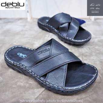 Deblu รองเท้าแตะผู้ชาย พื้นนุ่ม สายนิ่ม ใส่สบาย รุ่น M4709 (สีดำ) ไซส์ 39-44-