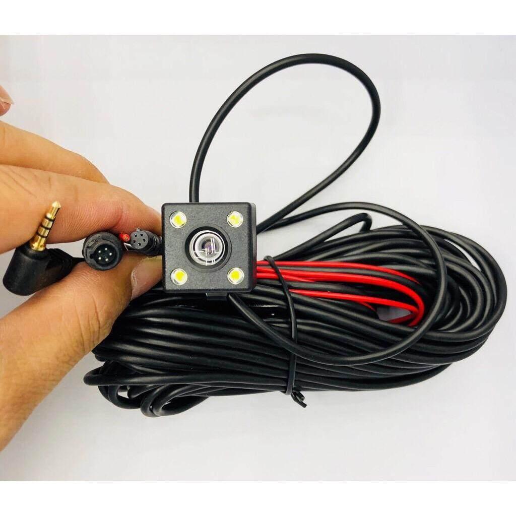 กล้องมองหลังติดรถยนต์ 9.5M บันทึกและถอยหลัง รุ่น 5พิน+LED