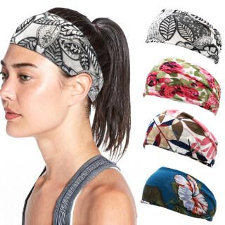 ANGUBA Băng Phụ Nữ Cotton Thể Thao Mũ Nón, Khăn Xếp Rộng Băng Đô Rộng Yoga Sweatband , Headwrap thumbnail