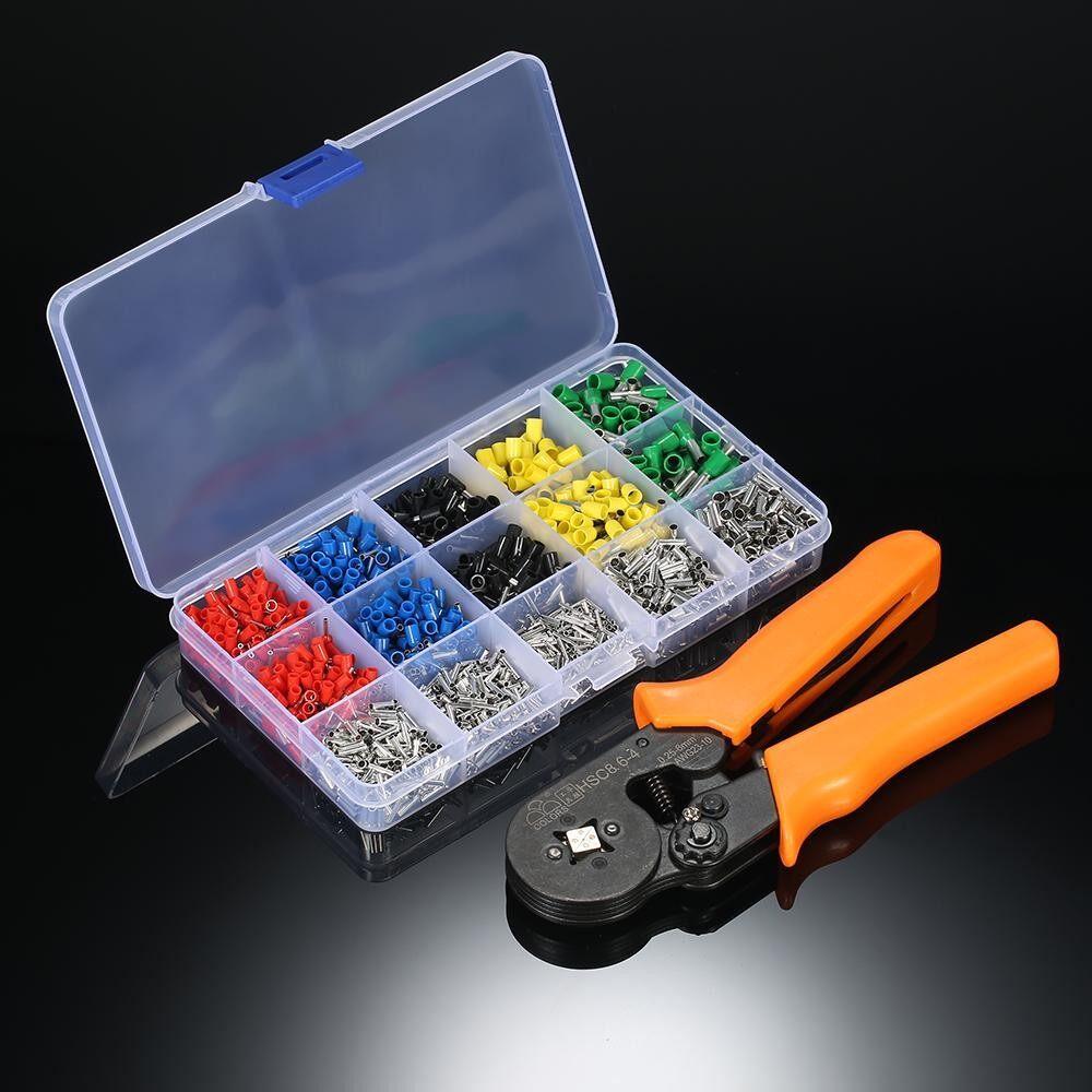 800pcs Electrical Wire Connector Terminal Crimp Tool Kit Ferrule Crimper Plier