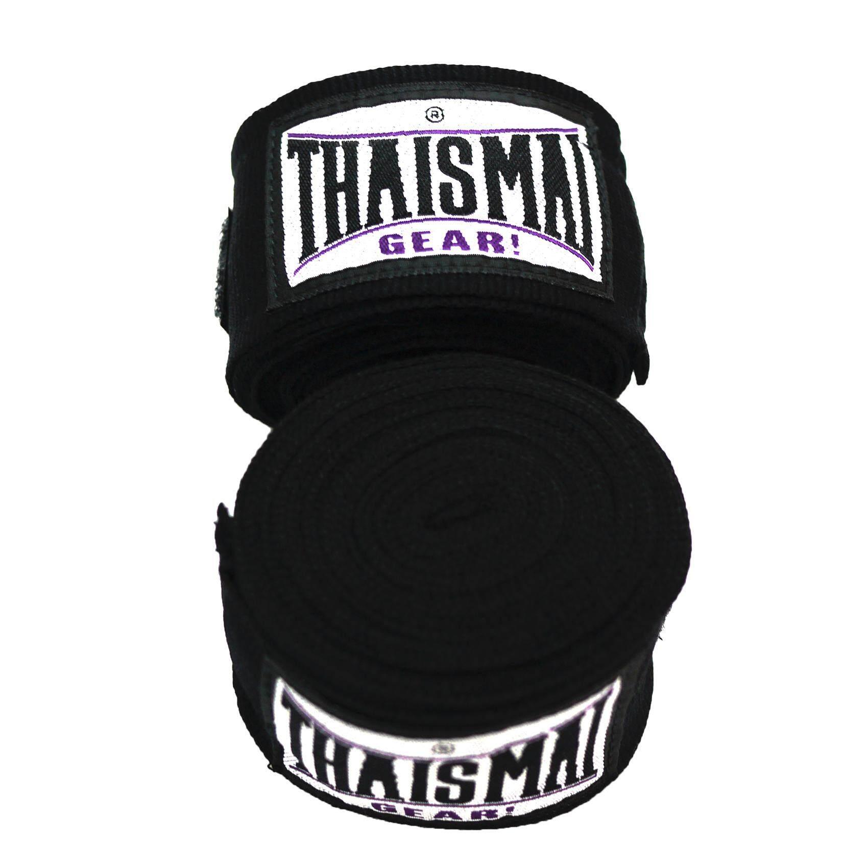Thaismai ผ้าพันมือซ้อมมวย Hand Wraps Hw-7003 4.5 M.long (black) By Thaifightpro.
