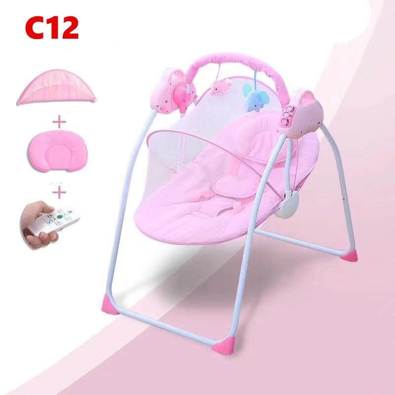 """แนะนำ baby style เปลไกวไฟฟ้าอัตโนมัติ เปลเด็ก ปลไกว ยี่ห้อ""""sanpaulo"""" มีเสียงดนตรี12 เพลง มีมุ้งกันยุง มีรีโมทกด มีเบาะรองนอนมีหมอน ใส่ถ่านได้ ซานกับสายUSBได้ อายุ 0-2 ขวบ รุ่น:C12"""