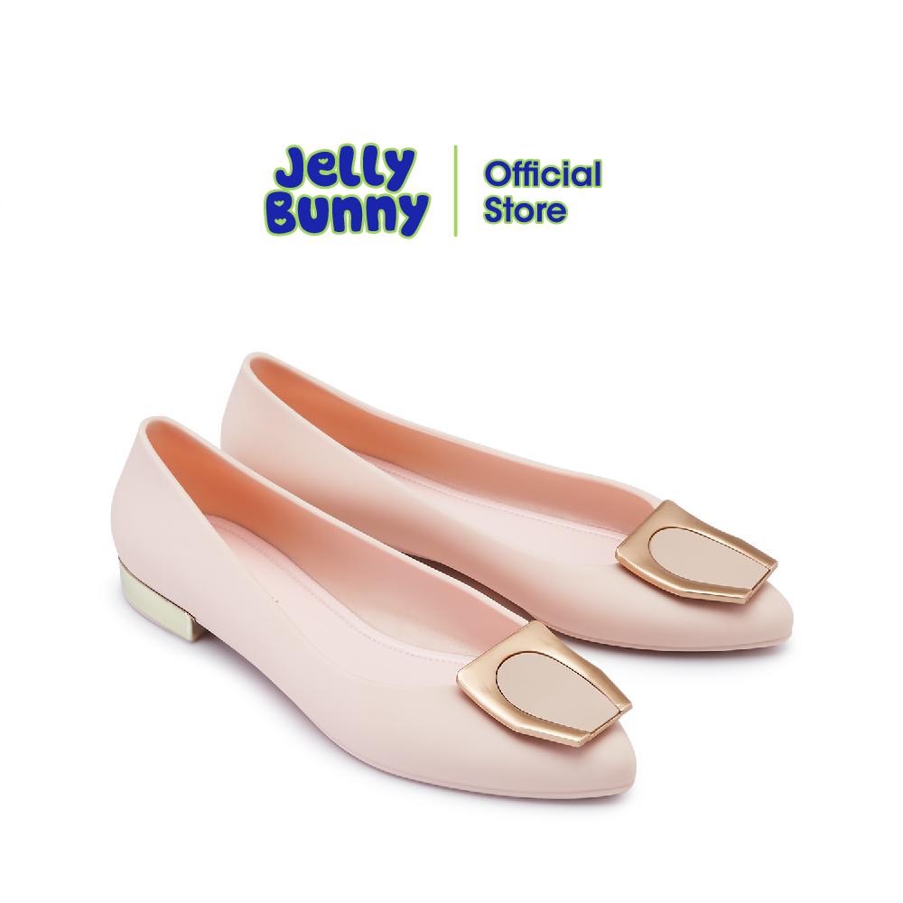 Jelly Bunny Olivia เจลลี่ บันนี่ โอลิเวีย B21slbi004 รองเท้าส้นแบน รองเท้าบัลเล่ต์ รองเท้าหุ้มส้น รองเท้าแฟชั่น.