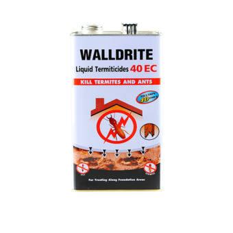 น้ำยาราดพื้นหรือฉีดพ่น ป้องกันและกำจัดปลวกใต้ดินและแมลงคลานอื่นๆ วอลไดร้ท์ 40 EC สูตรน้ำมัน ผสมน้ำได้ 40 เท่า  (ขนาด 1 ลิตร)-