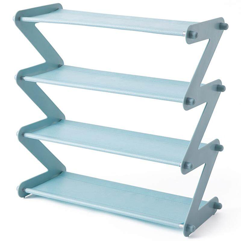 Simple Stainless Steel Assembled Shoe Rack Save Space Slippers High Heels Home Dormitory Foldable Multi-Layer Storage