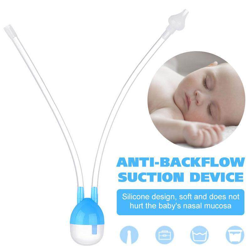Safety Baby Nasal Vacuum Mucus Suction Aspirator Soft Silicone Nose Cleaner
