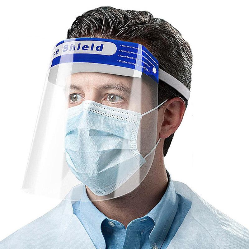 แพ็ค 1 ชิ้น Face Shield หน้ากากพลาสติกใส หน้ากากใส หน้ากากพลาสติก ป้องกันฝุ่นละออง ละอองของเหลว สารคัดหลั่ง ฝุ่นควัน โดนใบหน้าและดวงตา-