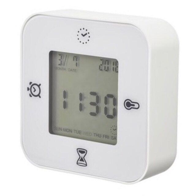 นาฬิกา 4 In 1 บอกเวลา จับเวลา นาฬิกาปลุก อุณหภูมิ 4 ฟังก์ชั่น Ikea Klockis.