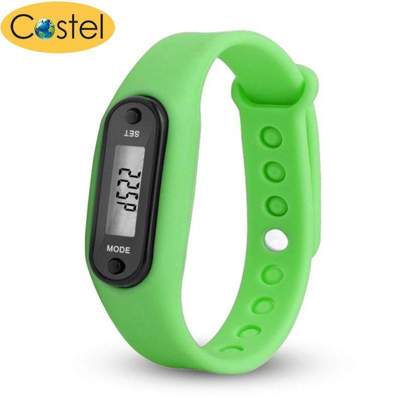 costel 2018 Step Watch Bracelets Pedometer Calorie Counter Digital LCD Walking Distance Wrap